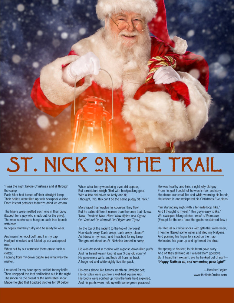 St. Nick on the Trail Printable
